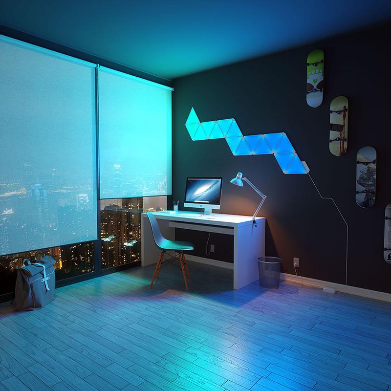 Nanoleaf创意组装拼接智能奇光板情景灯LED照明系统Aurora